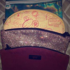 4 Ipsy makeup bags